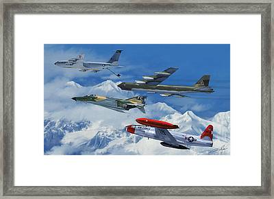 Refuel Over Alaska Framed Print by Dale Jackson