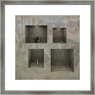 Regarding Desire Framed Print by Cynthia Decker