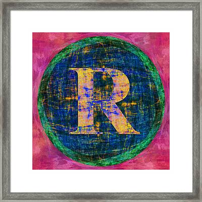 Registered Trademark Symbol Framed Print