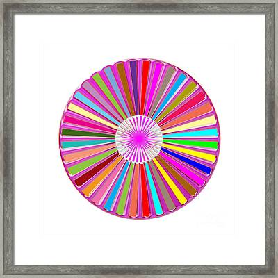 Colorful Signature Art Chakra Round Mandala By Navinjoshi At Fineartamerica.com Rare Fineart Images  Framed Print by Navin Joshi