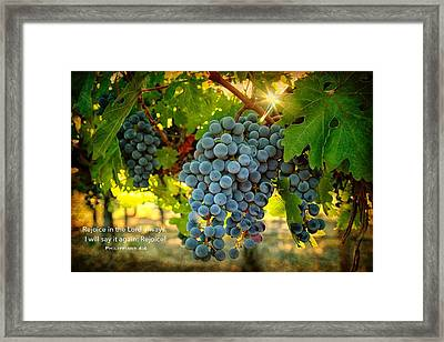 Rejoice Framed Print by Lynn Hopwood