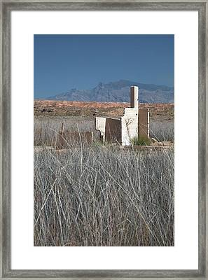 Remains Of House Flooded By Hoover Dam Framed Print