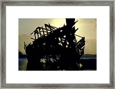 Remains Of The Day Framed Print by Mike Flynn