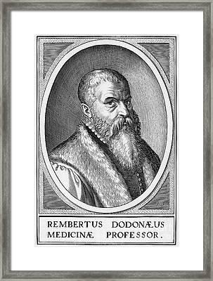 Rembert Dodoens, Flemish Botanist Framed Print