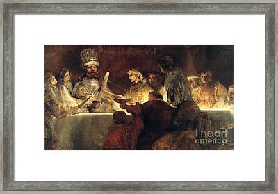 Rembrandt Smaller Version Framed Print by Rembrandt