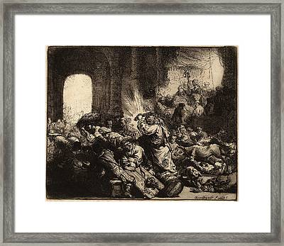Rembrandt Van Rijn Dutch, 1606 - 1669, Christ Driving Framed Print by Quint Lox