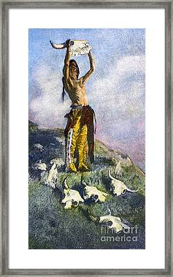 Remington: Buffalo, 1892 Framed Print by Granger