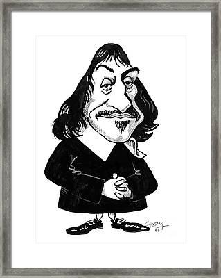 Rene Descartes, Caricature Framed Print