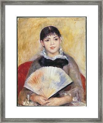 Renoir, Pierre-auguste 1841-1919. Girl Framed Print by Everett