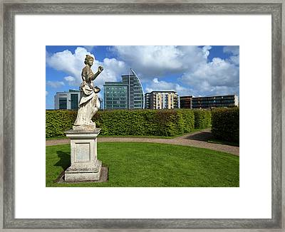 Renovated Formal Gardens At The Museum Framed Print
