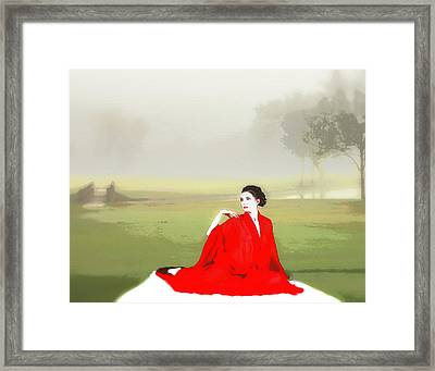 Repose In The Fog Framed Print by Richard Hemingway