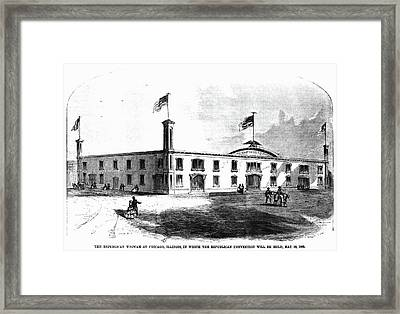 Republican Convention, 1860 Framed Print by Granger