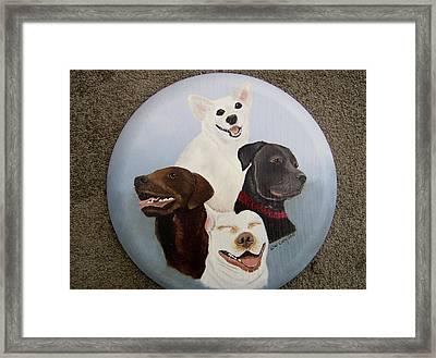 Rescued Is My Favorite Breed Framed Print