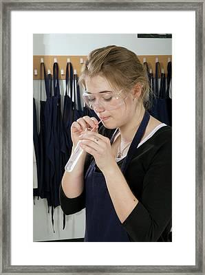 Respiration Experiment Framed Print