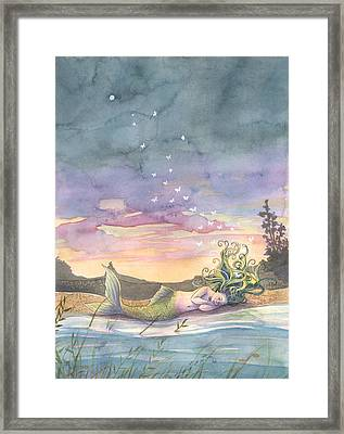 Rest On The Horizon Framed Print by Sara Burrier
