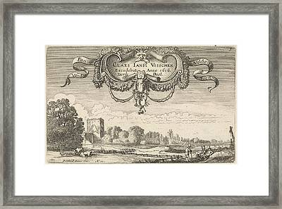 Resting Figures In A Landscape With Cows And A Tower Framed Print