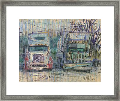 Resting Giants Framed Print by Donald Maier
