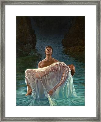 Framed Print featuring the painting Resurrection by Mia Tavonatti