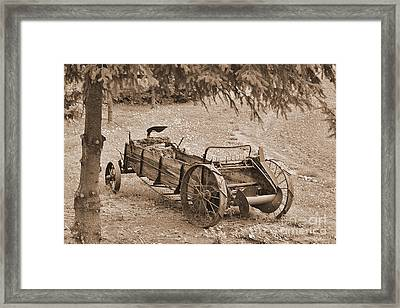 Retired But Ready Framed Print by Ansel Price
