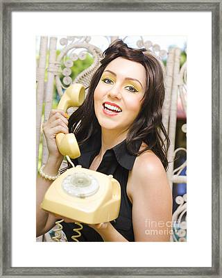 Retro Business Woman Framed Print by Jorgo Photography - Wall Art Gallery