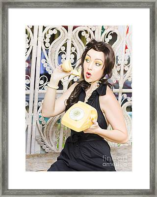 Retro Communication Framed Print by Jorgo Photography - Wall Art Gallery