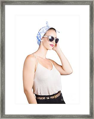 Retro Fashion Style Pin Up Lady Framed Print by Jorgo Photography - Wall Art Gallery