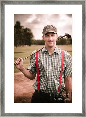Retro Golfer Framed Print by Jorgo Photography - Wall Art Gallery