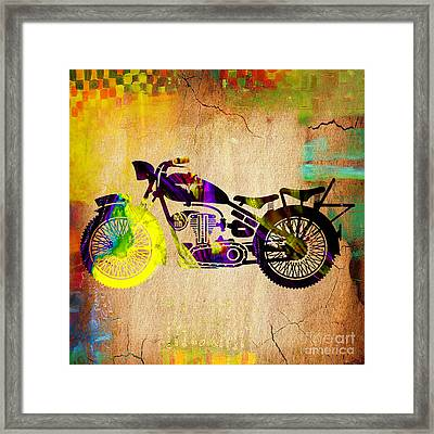 Retro Motorcycle Framed Print