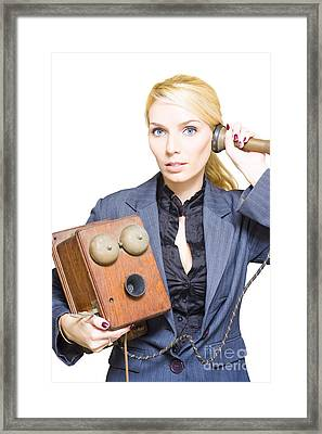 Retro Telephone Operator Framed Print by Jorgo Photography - Wall Art Gallery