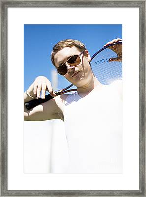 Retro Tennis 1970 Framed Print