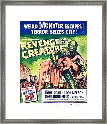 Revenge Of The Creature, 1955 Framed Print