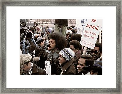 Reverend  Jesse Jackson Surrounded Framed Print