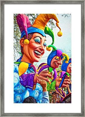 Rex Mardi Gras Parade Xi - Paint Framed Print by Steve Harrington