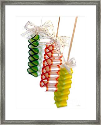 Ribbon Candy Portrait Framed Print by Iris Richardson