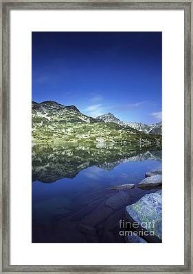 Ribno Banderishko Lake In Pirin Framed Print by Evgeny Kuklev