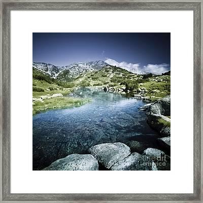 Ribno Banderishko River In Pirin Framed Print by Evgeny Kuklev