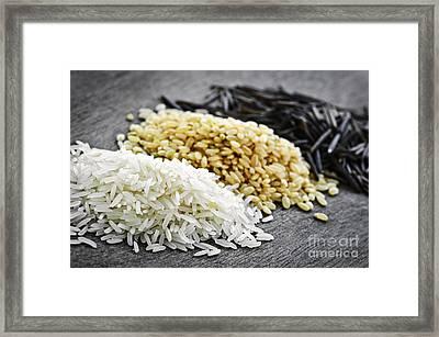 Rice Framed Print