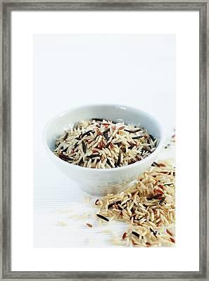 Rice Mix Framed Print
