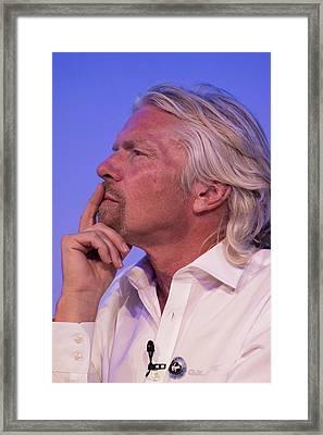Richard Branson. Framed Print by Mark Williamson