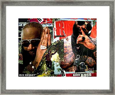 Rick Ross The Untouchable Framed Print by Isis Kenney