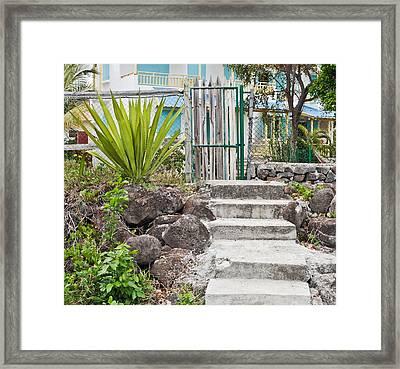 Rickety Gate Framed Print by Tom Gowanlock