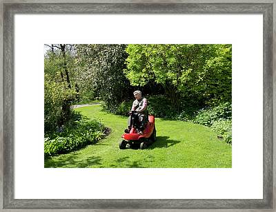 Ride-on Lawn Mower Framed Print