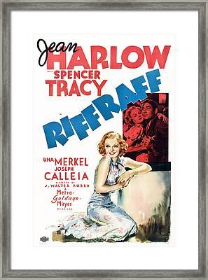 Riffraff, Jean Harlow, Spencer Tracy Framed Print by Everett