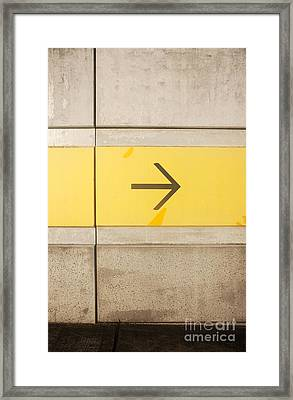 Right Direction Wall Framed Print