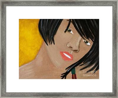 Rihanna  Framed Print by Kristen Diefenbach