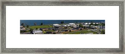 Rikers Island Jail In New York City Framed Print by David Oppenheimer