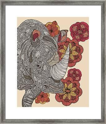 Rino Framed Print by Valentina Ramos