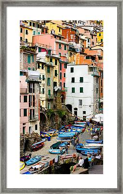Framed Print featuring the photograph Riomaggiore - Cinque Terre Italy by Carl Amoth