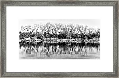 Framed Print featuring the photograph Rippled Reflection by Bill Kesler