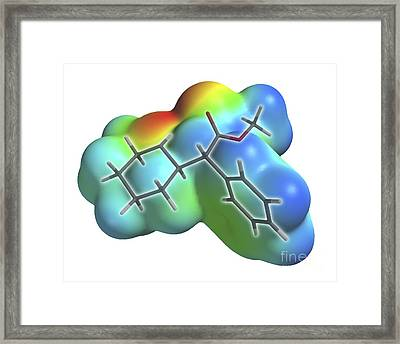 Ritalin Molecule Framed Print